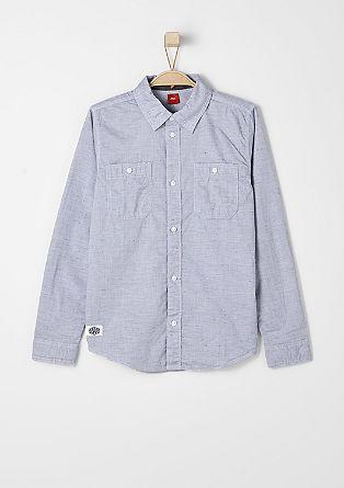 Langarmhemd mit Melange-Effekt
