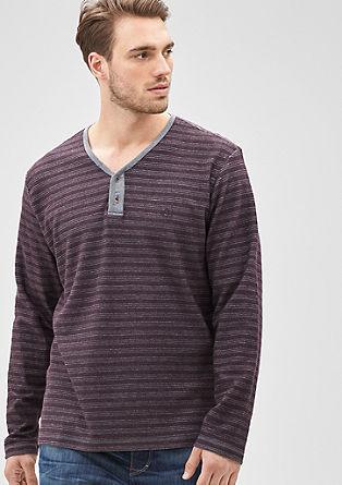 Langarmshirt aus Baumwoll-Felpa