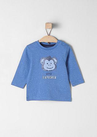 Langarmshirt mit Affen-Print