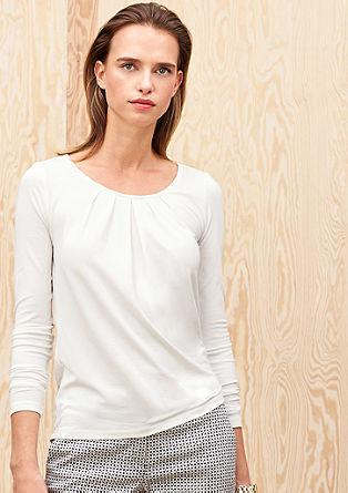 Langarmshirt mit Falten-Details