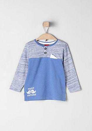 Langarmshirt mit Flockprint