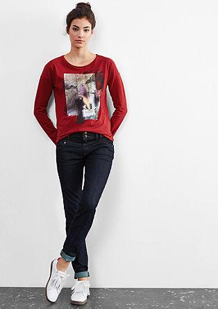 Langarmshirt mit Foto-Print