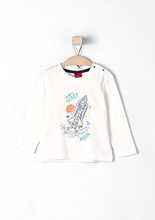 Langarmshirt mit gummiertem Print