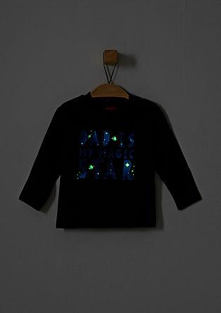 Langarmshirt mit Leuchtschrift