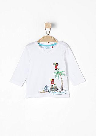 Langarmshirt mit Piraten-Print
