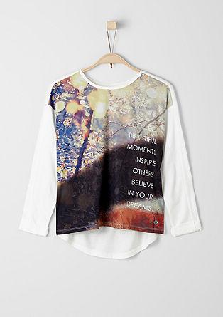 Langarmshirt mit Print-Front
