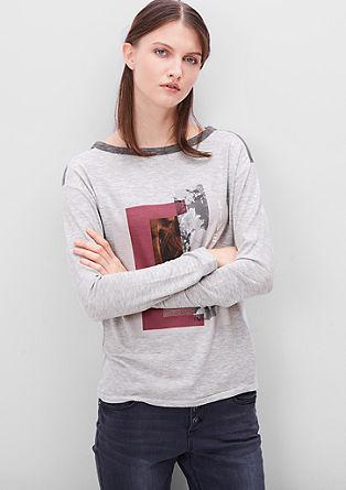 Langarmshirt mit Printcollage