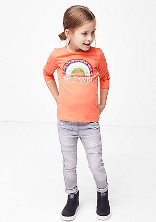 Langarmshirt mit Regenbogen-Print