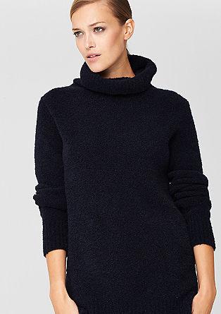 Lange, gebreide trui met wol