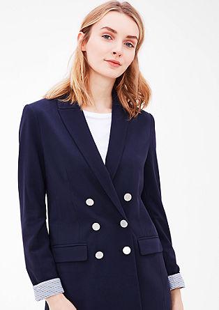Lange blazer met marine look