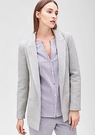 Lange blazer van jacquard