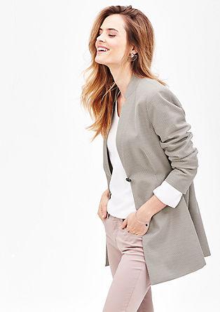 Lange blazer van minimalistisch jacquard