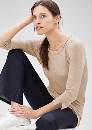 Lange fijngebreide trui