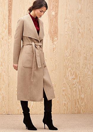 Lange mantel van een wolmix