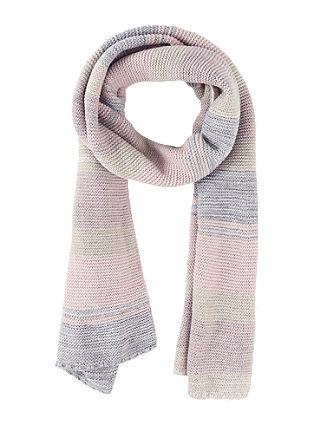 Lange sjaal in pastelkleuren