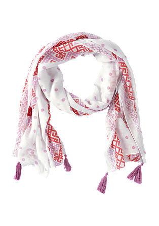 Lange sjaal met kwastjes