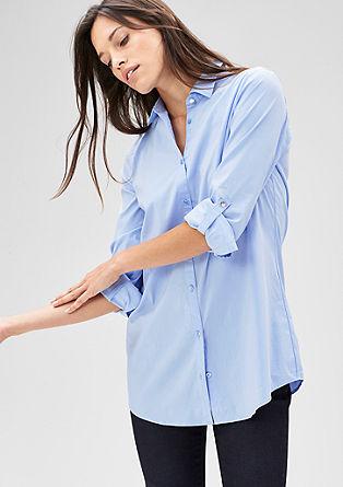 Lange Stretch-Bluse