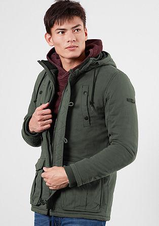 Lange winterjas met de look van een parka
