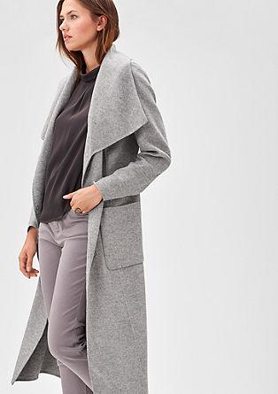 Langer Mantel aus Woll-Mix