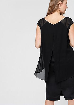 Layer-Kleid mit Chiffon