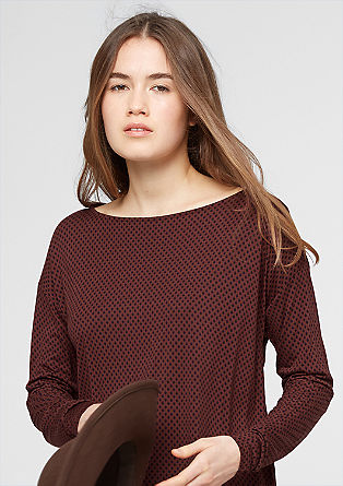 Layered long sleeve top with a pattern from s.Oliver