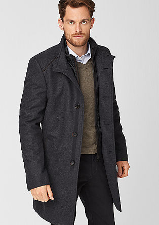 Layered wool coat from s.Oliver