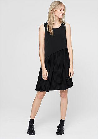 Layering-Kleid mit Plissee