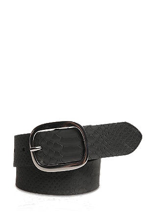 Leather belt in a reptile design from s.Oliver
