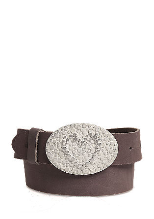 Leather belt with a distinctive buckle from s.Oliver