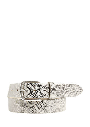 Leather belt with a metallic pattern from s.Oliver