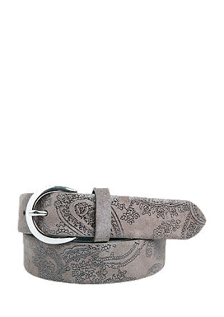 Leather belt with a paisley pattern from s.Oliver