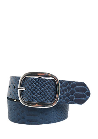 Leather belt with a snakeskin embossing from s.Oliver