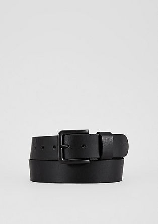 Leather belt with a tonal buckle from s.Oliver