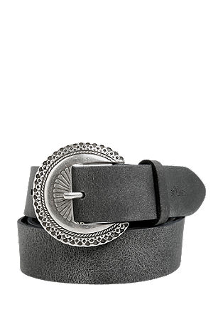 Leather belt with a Western-style buckle from s.Oliver
