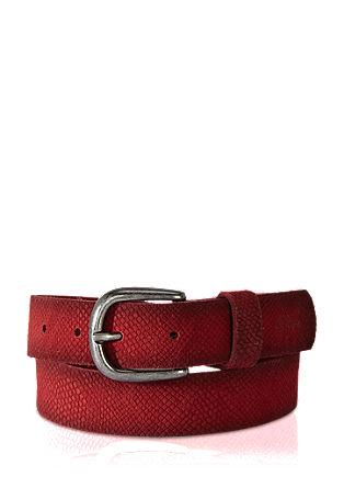 Leather belt with animal embossing from s.Oliver