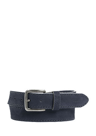 Leather belt with decorative stitching from s.Oliver