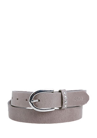 Leather belt with decorative studs from s.Oliver