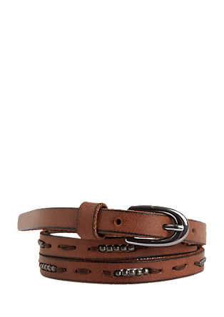 Leather belt with metal beads from s.Oliver