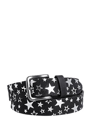 Leather belt with shiny stars from s.Oliver