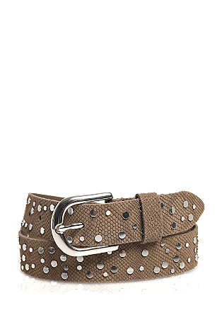 Leather belt with stud appliqués from s.Oliver