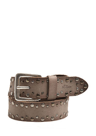 Leather belt with studs from s.Oliver