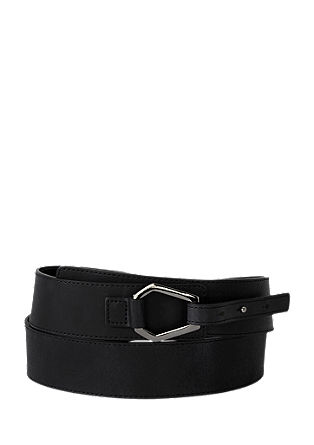 Leather belt with trapezium buckle from s.Oliver
