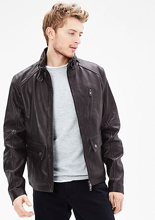 Leather jacket with a vintage finish from s.Oliver