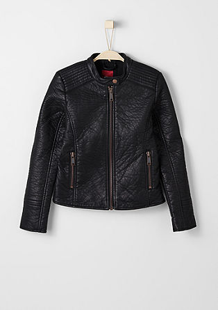 Leather-look biker jacket from s.Oliver