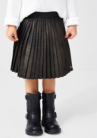Leather-look pleated skirt from s.Oliver