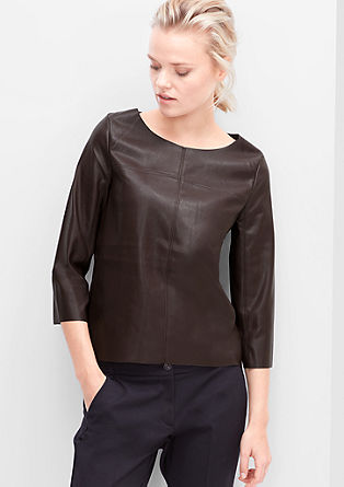 Leather-look top from s.Oliver