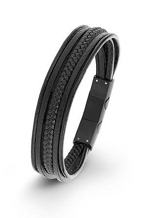 Leder-Armband mit Edelstahl