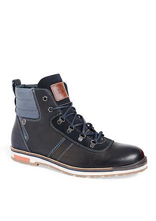 Leder-Boots im Bergsteiger-Look