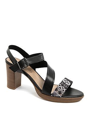 Leder-Sandaletten mit Musterband
