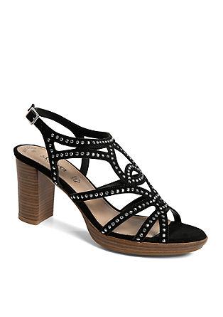 Leder-Sandaletten mit Nieten
